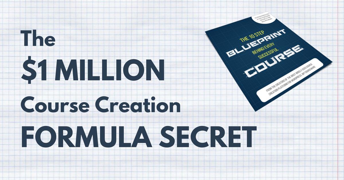 1 Million Dollar Course Creation Formula Secret