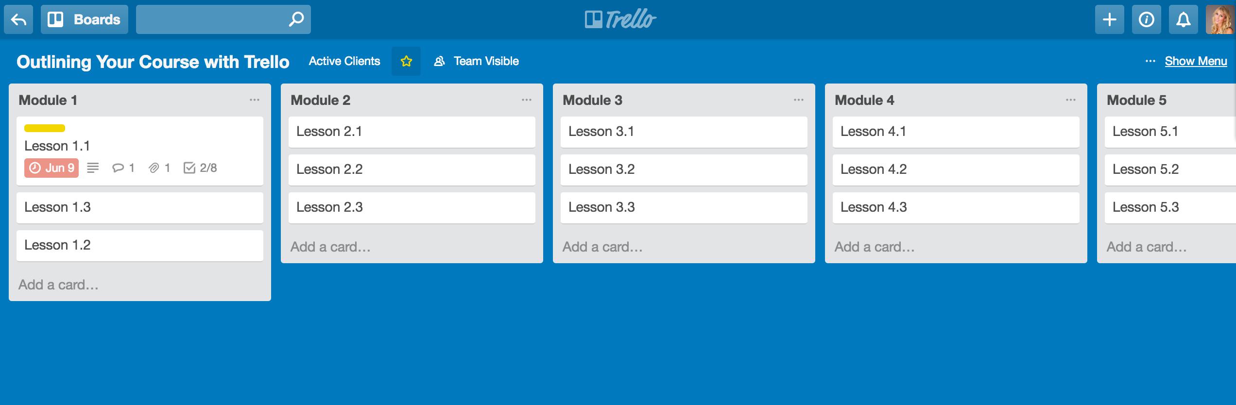Ultimate Course Creation Resource Guide Trello