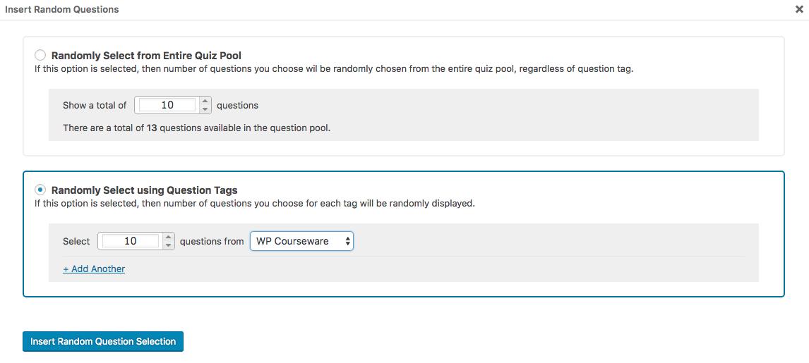 Creating Randomized Quizzes 22